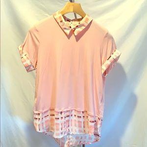 Women's knit top. Light pink. Size L.